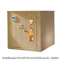 Elementsauna HALMSTAD mit Holzt�r